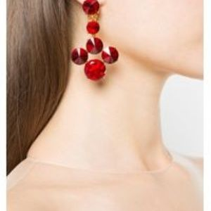 Oscar de la Renta SCARLET RIVOLI earrings red